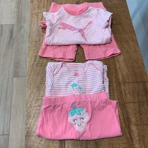 2 sets of 12M girls outfits